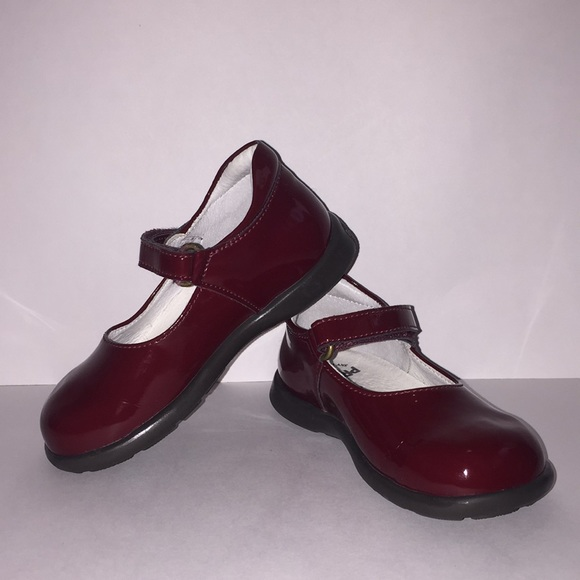 Burgundy Little Girls Dress Shoes